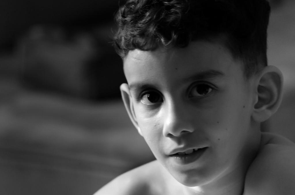 Daniel Steven com 6 anos